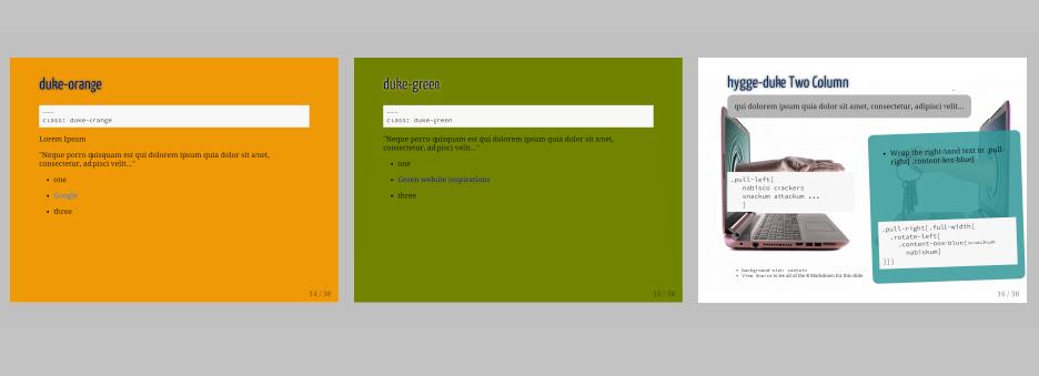 Slide Template Using Duke University Color Palette & xaringan   John